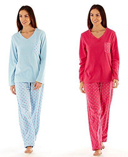 b8d092c06c From 15.00 Ladies Stars Fleece Pyjamas Set Warm Winter Pjs Twosie Ln657  Size 10-20 By Daisy Dreamer 18 20 Blue