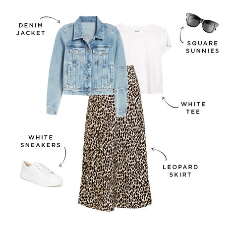 The Perfect, Budget-Friendly Spring 2020 Capsule Wardrobe for Moms Source by jmeherndon outfits spring Spring Summer Fashion, Spring Outfits, Winter Fashion, Leopard Skirt, Winter Typ, Anna Dello Russo, Denim Fashion, Mom Fashion, Over 50 Womens Fashion