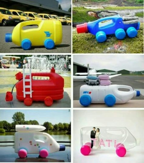 Photo Beautiful Serie Of Recycled Plastic Bottles Into Cars And   Plastik  Mobe Phantastisch