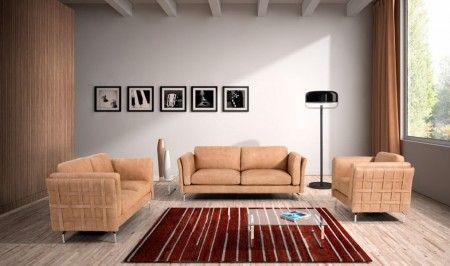 Estro Salotti Jenny Modern Italian Leather Living Room Set In Terra Leather Living Room Set Italian Leather Sofa Sofa Set