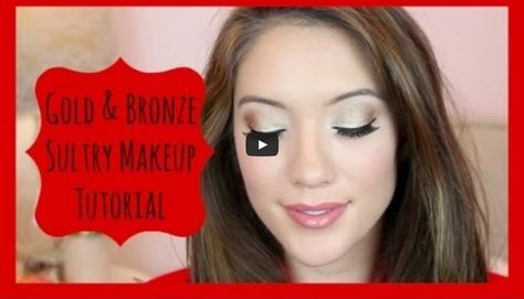 Gold+Bronze Eye Shadow Tutorial with Blair Fowler of juicystar07. The YouTube starlet divulges secrets to achieving a bold eye look.  #Sephora #HowTo #beautytutorial