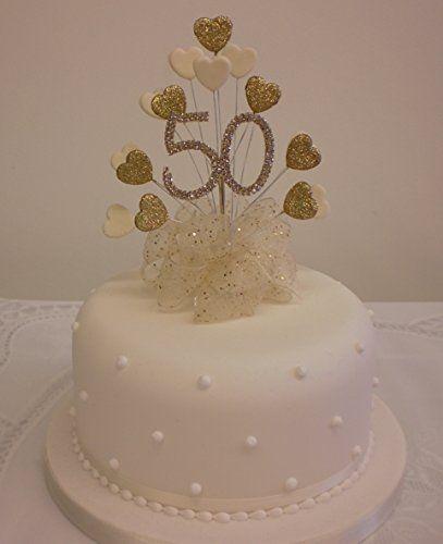50th golden wedding anniversary cake topper | Flickr - Photo ...