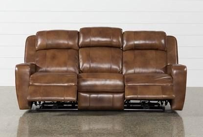 Phelps Leather Power Reclining Sofa With Power Headrest Usb Power Reclining Sofa Reclining Sofa Power Recliners