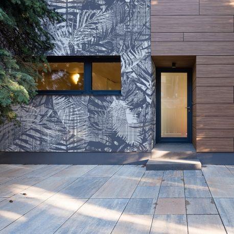 Papiers Peints D Exterieur Tropical Blue Leaves Avec Images Papier Peint Peindre Mur Exterieur Deco Papier Peint