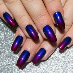 Coffin Press On Nails - Ombre Fake Nails - Ballerina False Nails - Artificial Nails with Designs - H