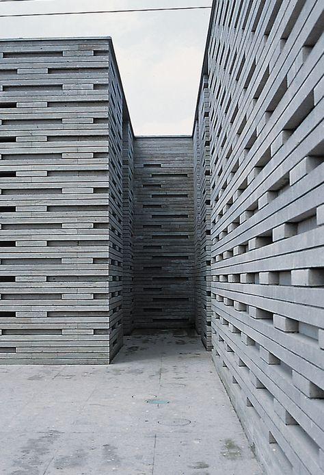 Stone Museum in Nasu, Kengo Kuma & Associates. Photo © Shinkenchiku- sha.