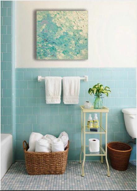 Extra Large Wall Art Oversize Blue Canvas Aqua Purple Impasto Wall Art Master Bedroom Aqua Canvas Baby Boy Nursery Impasto Wall Art Vintage Bathrooms Room Tiles Room Wall Tiles