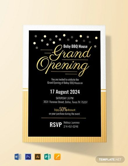 Free Restaurant Grand Opening Invitation Template Word Doc Psd Indesign Apple Grand Opening Invitations Invitation Card Format Invitation Card Design