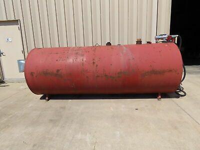 Horizontal Red Steel Diesel Fuel Storage Tank 48 X 11 1000 Gallon W 12v Pump In 2020 Fuel Storage Diesel Fuel Storage Tank