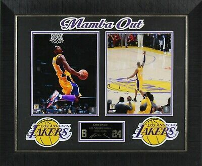 Sponsored Amazing Kobe Bryant Mamba Out 8x10 S Laser Engraved Display Framed In 2020 Frame Display Laser Engraving Kobe Bryant