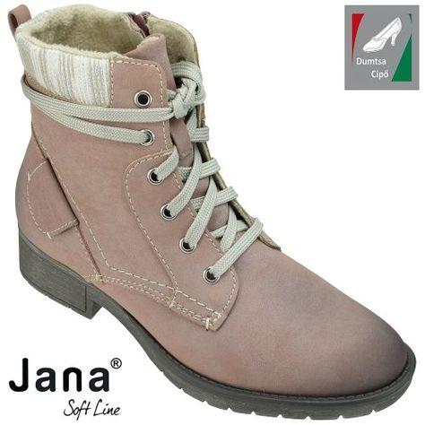 Jana Soft Line női bokacipő 8-25262-21 521 rózsaszín  b586733436