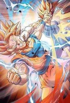 Goku Vs Xeno Goku Dragon Ball Heroes Manga Dragon Ball Super Spoilers Xeno Goku Dragon Ball Goku Vs