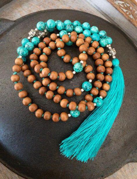 5 Strand Pink Jade mala 109 japa mala hand knotted mala necklace buddha prayer beads yoga mala  Love Mala Size 8 mm 34 Inch Strand