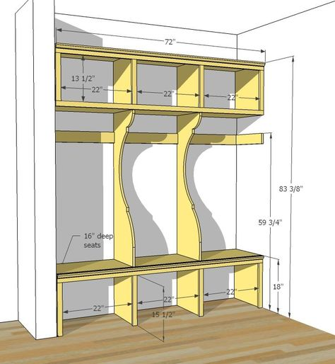mud room bench | mud room bench / lockers | For the Home