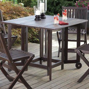 Folding Patio Table And Chairs Wayfair Wooden Dining Tables