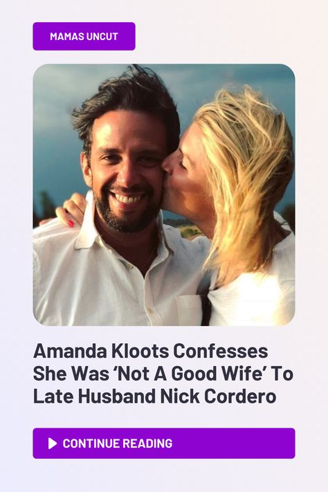 Amanda Kloots opened up to The New York Times about her regrets in her marriage with Nick Cordero, who died in July 2020 from COVID-19.