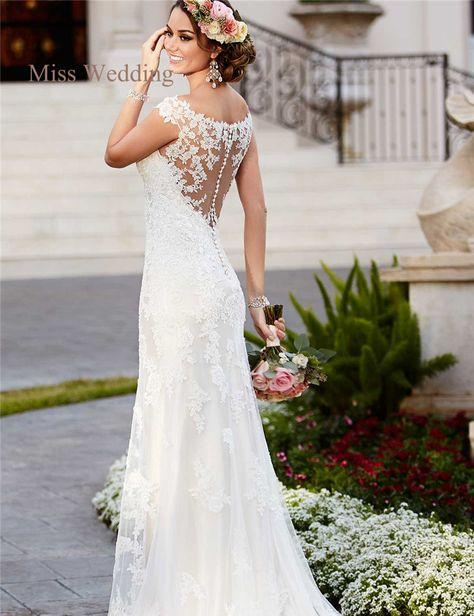 Scoop Back Lace Wedding Dress – Fashion dresses