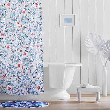 Marni Shower Curtain Blue Curtains