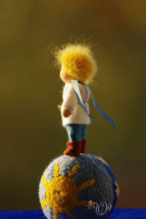 Inspired Waldorf doll The little Prince 4 inches 10 by TaleWorld