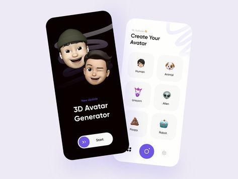Avatar Generator App UI Design