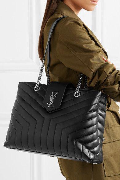 5dbc483d826 Saint Laurent | Loulou large quilted leather shoulder bag | Bags ...