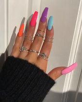 Acrylic Summer Nails – Beauty   - Acrylic nails - #Acrylic #Beauty #Nails #Summer