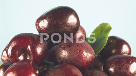 Cherries close-up rotate in front of the camera. Lots of cherries. Stock Footage #AD ,#rotate#front#Cherries#close