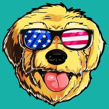 Goldendoodle Dog Patriotic Usa 4th Of July American Cute Tank Top Goldendoodle Dog Vector American Boxer Dog
