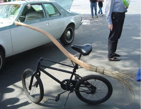 it's a bike for a wizard! Or a harry potter fan like myself....