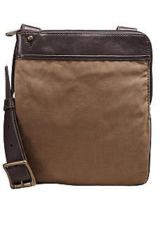 "Fossil® ""Estate"" Canvas Bag #belk #mensfashion #accessories"