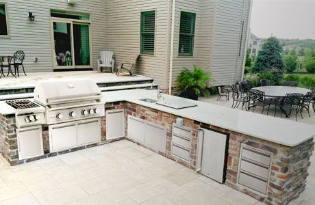 Top Outdoor Kitchen Sets And Appliance Packages Bbq Guys Outdoor Kitchen Kits Outdoor Kitchen Outdoor Kitchen Appliances