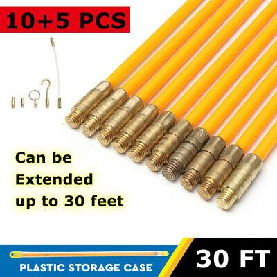 Sponsored Ebay 10pcs Wire Electrical Fish Tape Cable Fiberglass Kit Coaxial Puller Running Rods In 2020 Electrical Tools