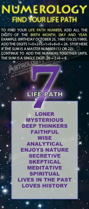 numerology number 7 date of birth