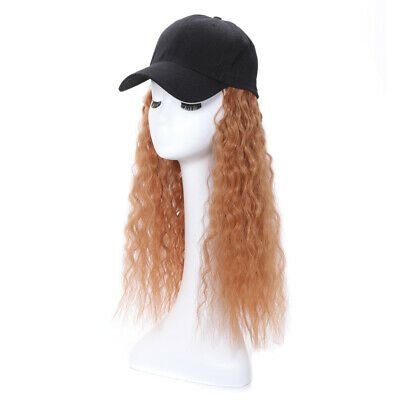 Ad Baseball Hat With Wigs Cap Hats Synthetic Long Yaki Hair Wigs With Hat Women Yaki Hair Wig Hairstyles Wig Cap