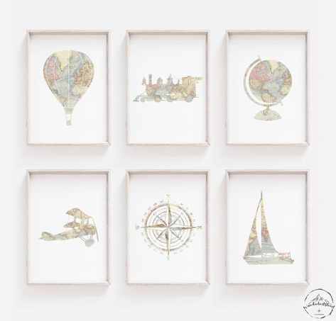World Map Nursery Art by WanderlustStreet on Etsy Map Nursery, Travel Nursery, Animal Nursery, Nursery Wall Decor, Nursery Ideas, Nursery Pictures, Nursery Themes, Room Decor, World Map Decor