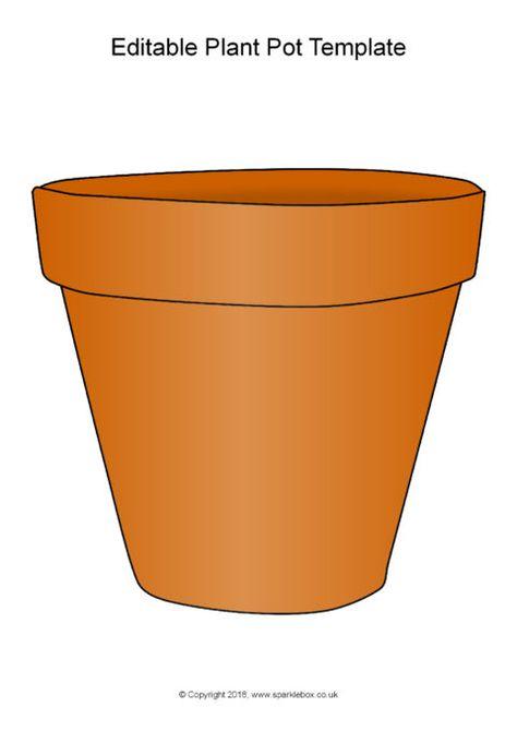 Editable A4 Plant Pot Template Sb12475 Sparklebox Flower Printable Templates Printable Free Flower Pots