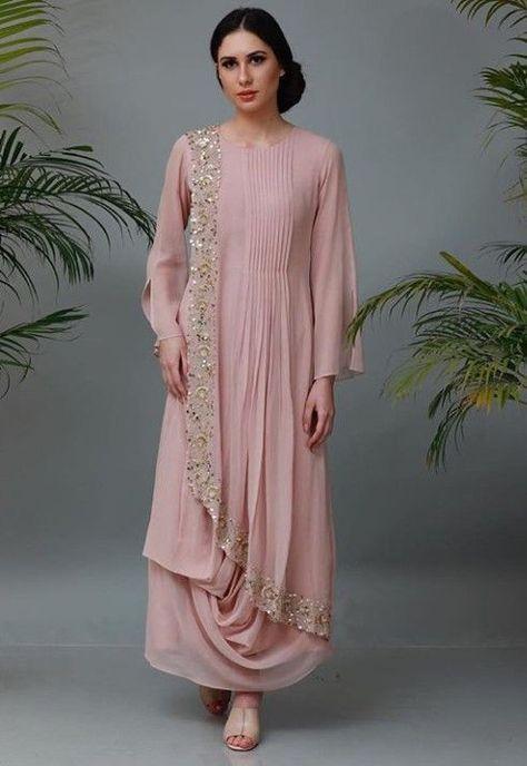 Best 11 Crepe collared drape kurti tunic with handwork motiff | Etsy – SkillOfKing.Com