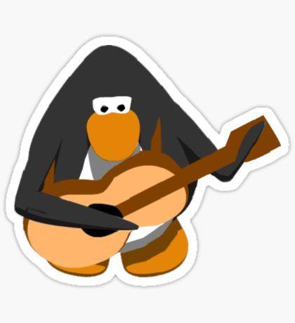 Club Penguin Stickers Guitar Stickers Club Penguin Club Penguin Memes