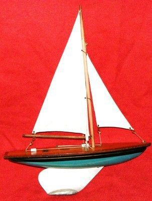 Vintage 15'' Ailsa pond yacht made in Largs Scotland  This