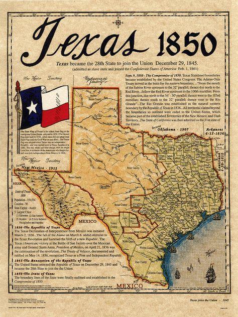 Texas 1850 Republic Of Texas Texas History Loving Texas