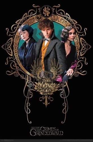 Details About Fantastic Beasts 2 Character Trio Poster 22x34