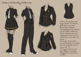 Umbra University Uniforms By Crystalalluvion Art Clothes Fashion Design Drawings Manga Clothes