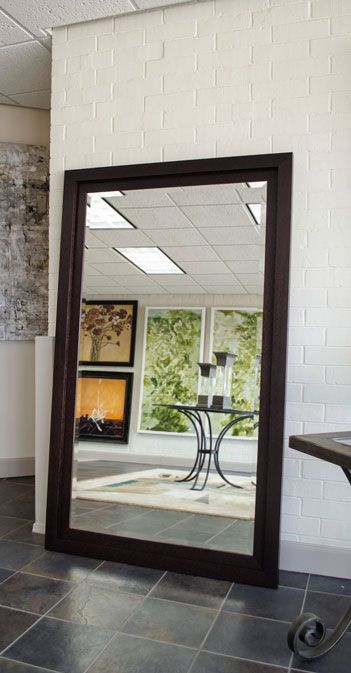 Brown framed mirror large mirror bathroom mirror custom sized for the home pinterest frame mirrors mirror bathroom and bathroom mirrors