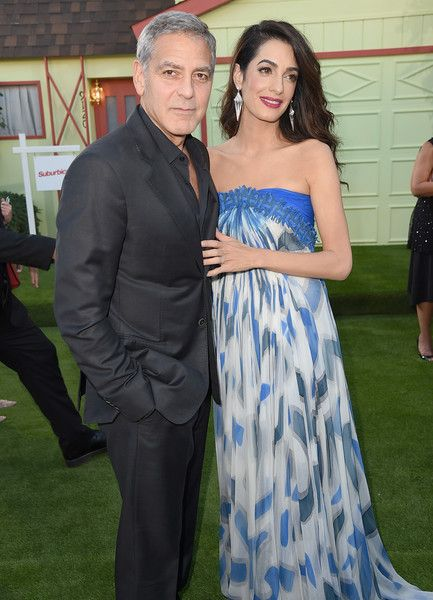 George Clooney and Amal Clooney attend the Premiere of Paramount Pictures' 'Suburbicon.'