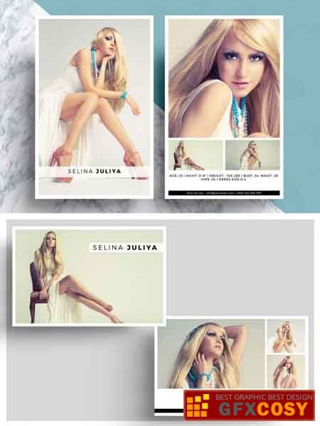 Comp Card Template Psd Download Model Comp Card Card Templates Free Card Template