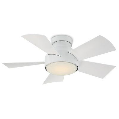 Modern Forms Vox 5 Blade Outdoor Led Ceiling Fan Finish Titanium