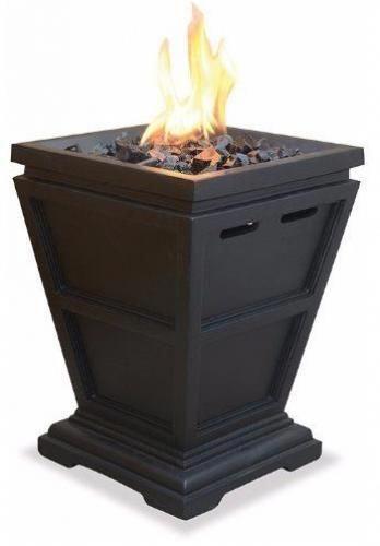 Gas Tabletop Heater Outdoor Garden Propane Fireplace Deck Patio