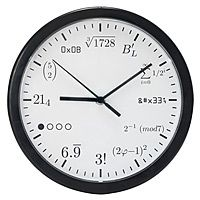 Geek clock (good for math teachers, too)