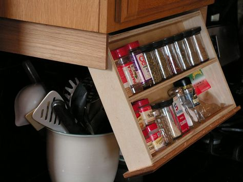 Under Cabinet Spice Rack With Images Cabinet Spice Rack Spice