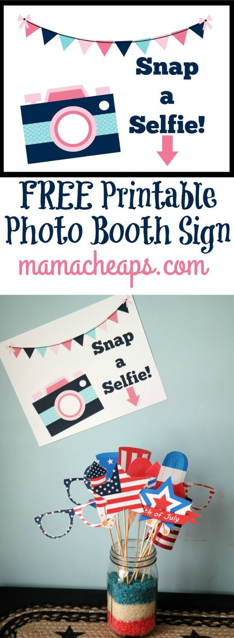 graphic regarding Selfie Station Sign Free Printable named Checklist of Pinterest picture booth indication do-it-yourself free of charge printable Plans